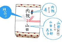結婚内祝いの「のし」の書き方イラスト