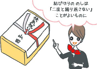 快気祝い熨斗(のし)のイラスト