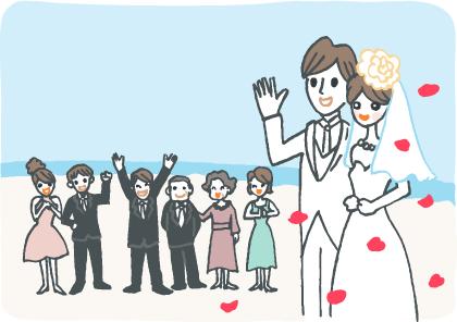 人前結婚式についてのイメージイラスト