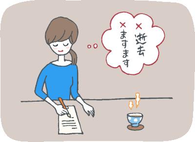 香典返しの挨拶状(お礼状・奉書)の書き方のイメージイラスト