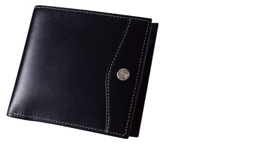 ゴールドファイル二つ折り財布